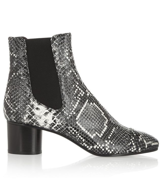 Isabel Marant Danae Snake-Effect Leather Ankle Boots