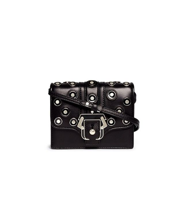 Paula Cademartori Anna Mini Metal Grommet Crossbody Bag
