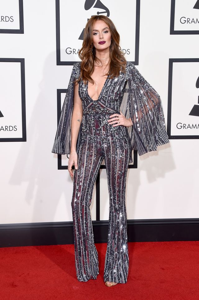 WHO: Nicole Trunfio WHAT: The 58th Grammy Awards WEAR: Zuhair Murad jumpsuit
