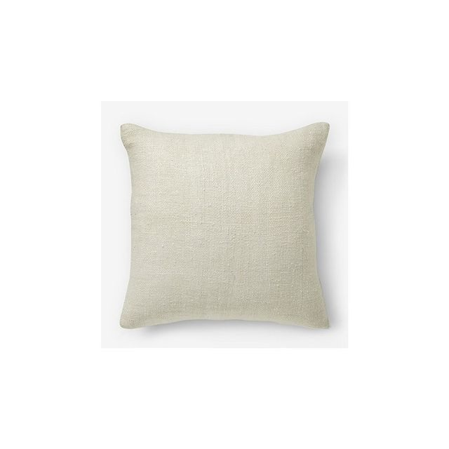 West Elm Silk Handloomed Cushion Cover - Stone White