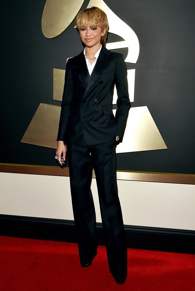 WHO: Zendaya WHAT: Singer WEAR: Dsquared2 suit; Butani and Casa Reale jewellery; Giuseppe Zanotti shoes.