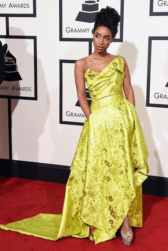 WHO: Lianne La Havas WHAT: Singer WEAR: Vivienne Westwood Couture Collection gown.