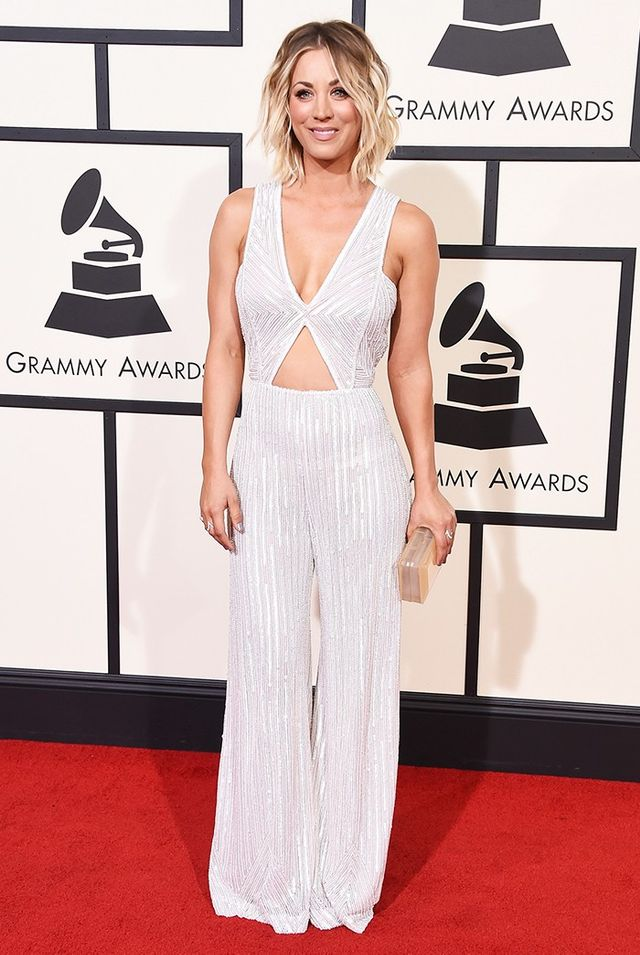 WHO: Kaley Cuoco WHAT: Presenter WEAR:Naeem Khan jumpsuit; H. Stern jewellery. Who do you think won the Grammys red carpet? Sound off in the comments below! Opening Image:...