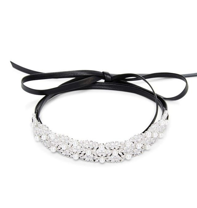 Fallon Monarch Dotted Pearl Wrap Choker