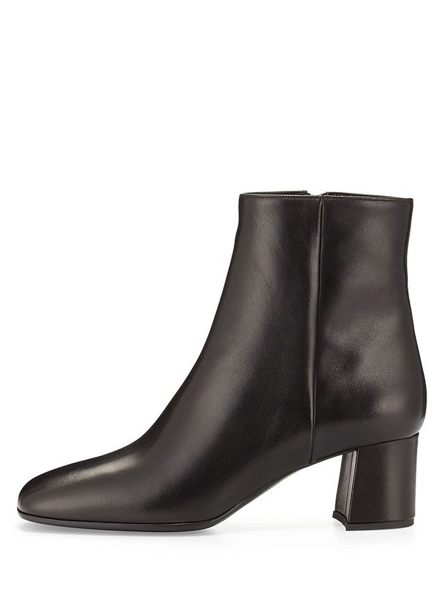 Prada Square-Toe Ankle Boot