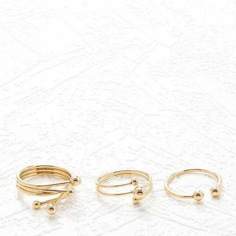 Ball-Embellished Ring