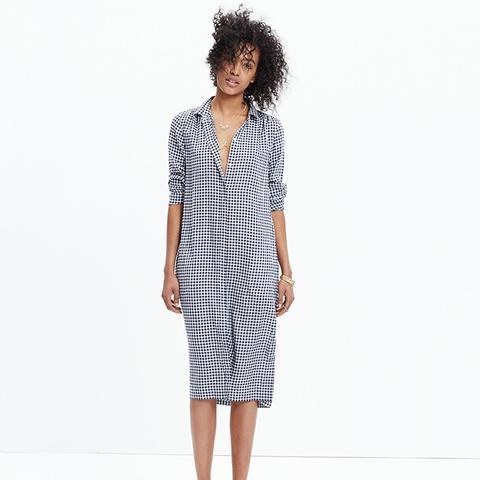 Midi Shirtdress in Gingham Check