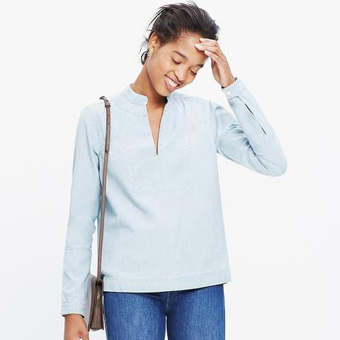 Denim Popover Shirt in Lauryn Wash