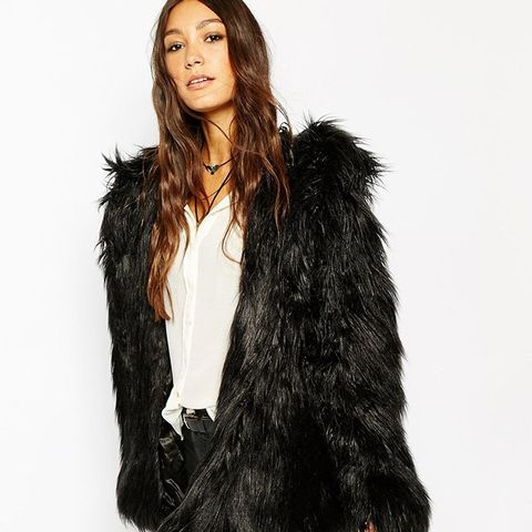Hooded Fluffy Faux Fur Coat