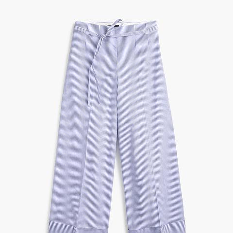 Cuffed Pant in Shirting Stripe