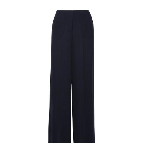 Ryeridge Silk-Crepe Wide-Leg Pants