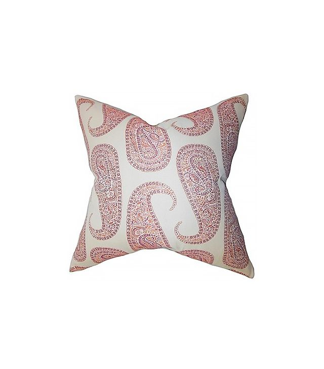 The Pillow Collection Amahl Paisley Pillow Orange