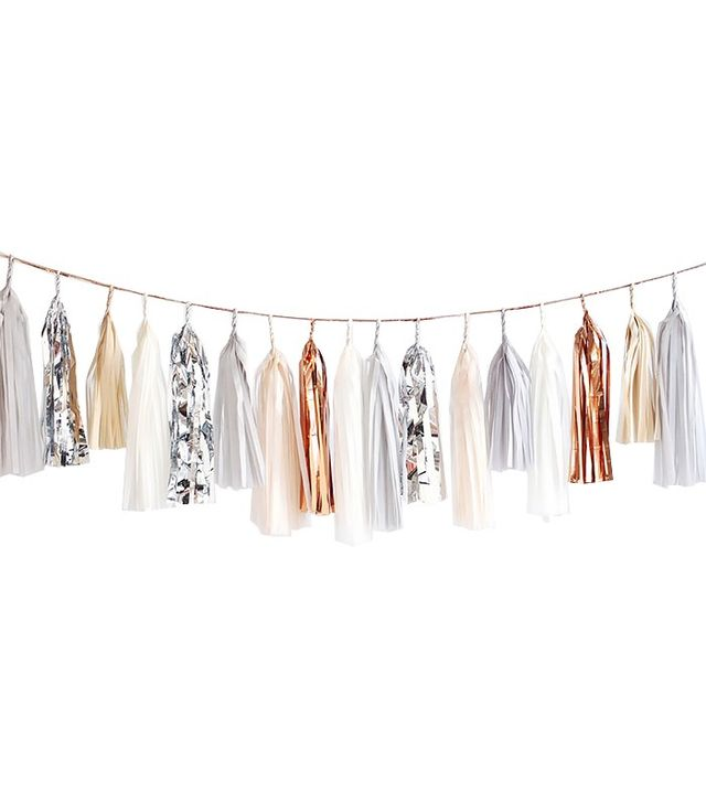 Confetti System Tassel Garland, Neutral with Silver + Copper