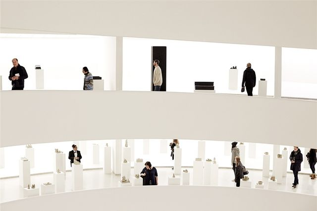 """On one of the days it snowed, I decided to keep warm and visit the Guggenheim Museum. There was a wonderfully witty exhibition featuring Peter Fischli and David Weiss."""