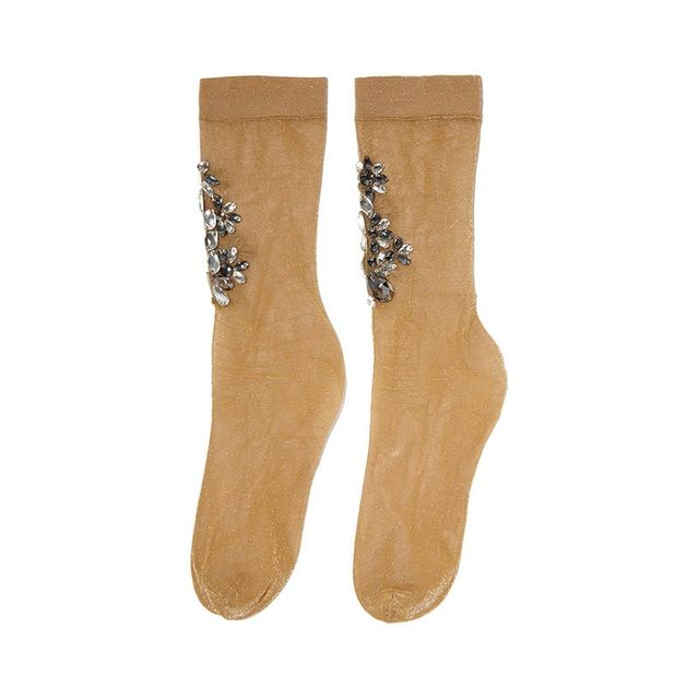 Dolce & Gabbana Metallic Knitted Socks