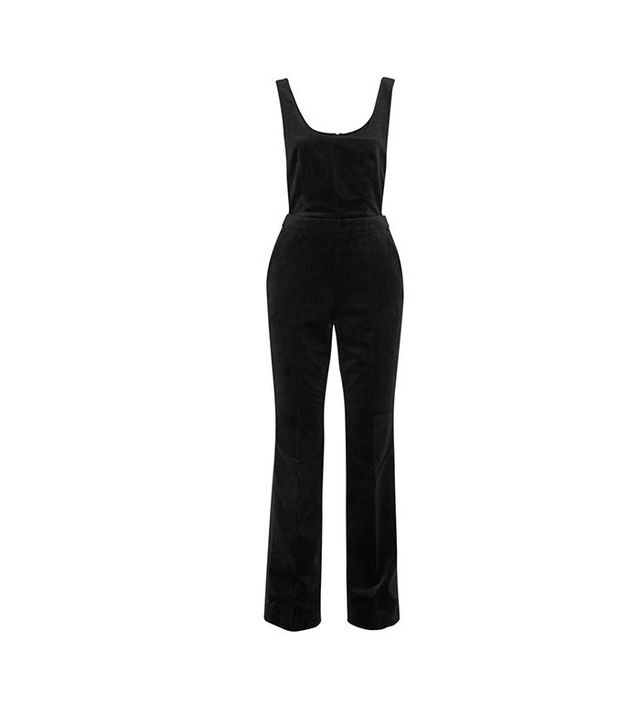 Topshop Unique Arnold Cotton-Velvet Overalls