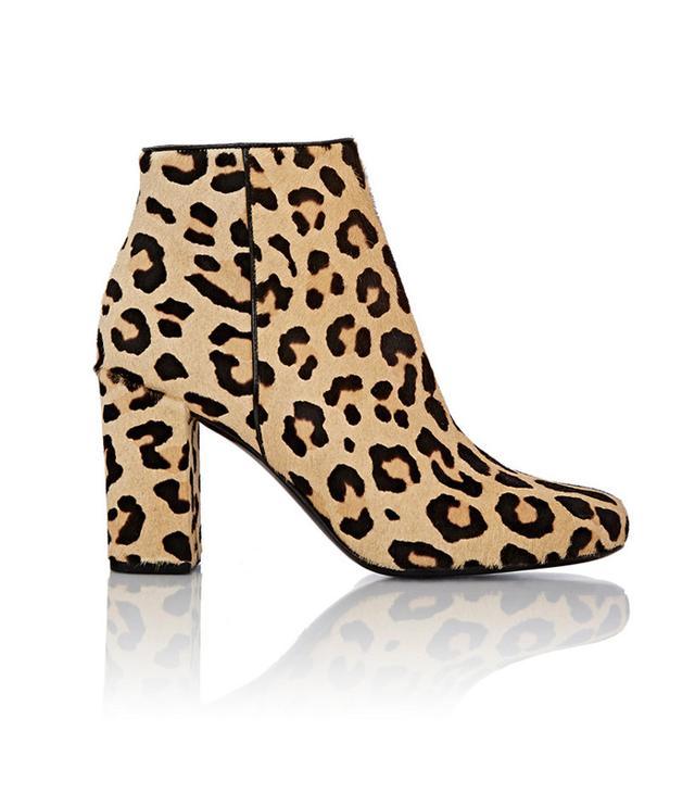 Saint Laurent Leopard-Print Babies Ankle Boots