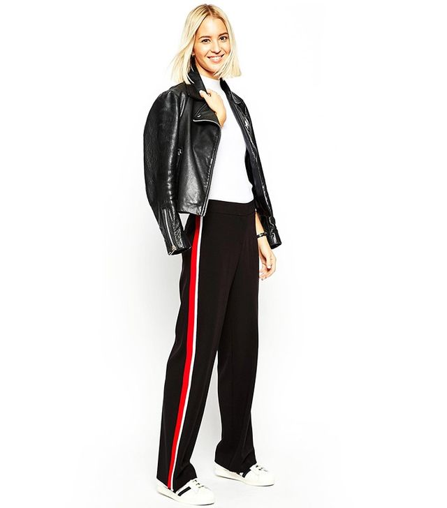 ASOS Wide-Leg Pants With Side Stripe