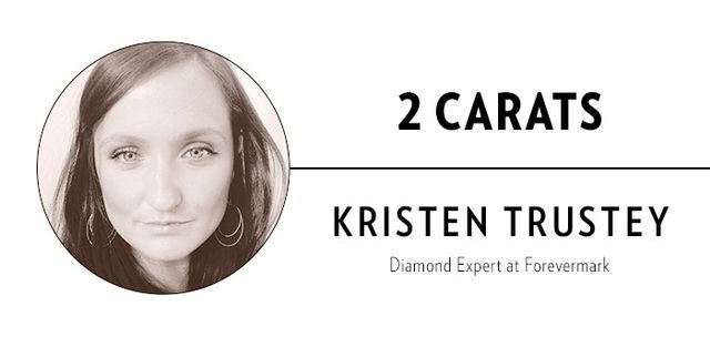 """""""The average engagement ring has a center diamond of about one carat and a total carat weight of approximately one and a half carats. An engagement ring around two carats or above would be..."""