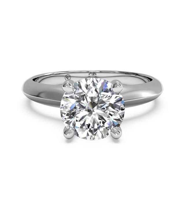 Ritani Solitaire Diamond Kife-Edge Engagement Ring