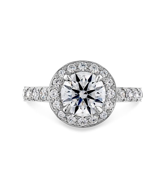 Hearts on Fire Illustrious Halo Engagement Ring