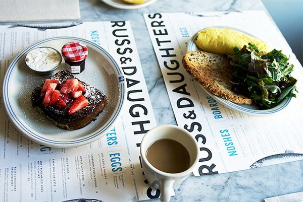 """""""Russ & Daughters Cafe, Orchard Street. The best French toast in Lower East Side. I'm addicted to French toast and it's my go-tobreakfast meal when I'm in New York. My..."""
