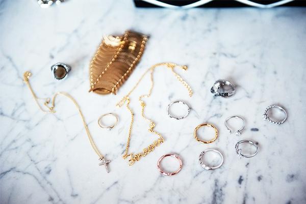 """""""My amazing tiny jewelry from Polish brands Apartand Artelioni."""""""