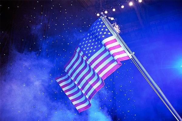 """Tommy Hilfiger flying the flag!"""