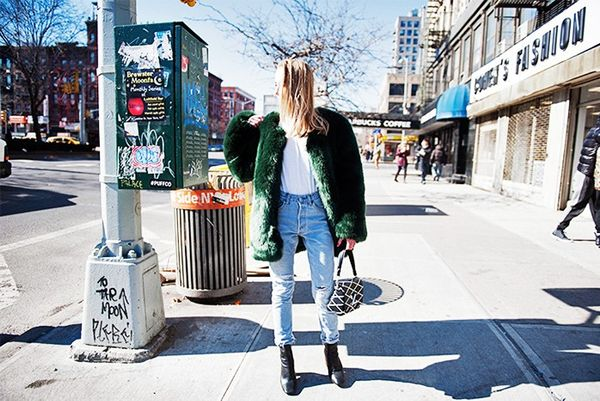 """""""This picture wastaken during the coldest day I've survived this year—minus 20 degrees centigrade. It was painful, but this gorgeous THP Shop x Avenue 32faux fur jacket..."""
