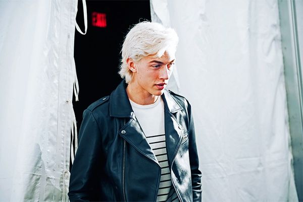 """""""Lucky Blue Smith... it took my breath away when I saw him at Tommy's backstage!"""""""