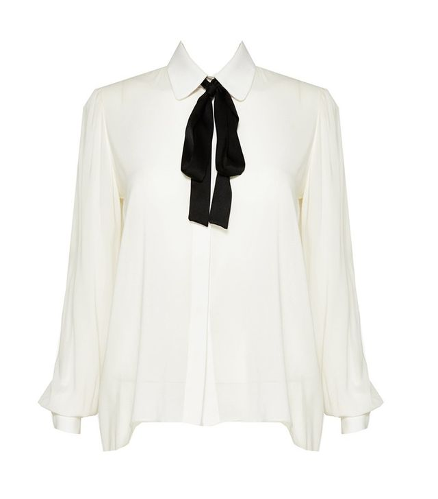 Alice and Olivia Janis Buttondown with Neck Tie