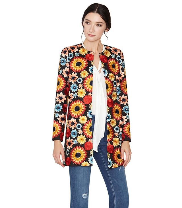 Alice and Olivia Rory Embroidered Long Jacket