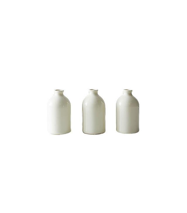 Food52 White Bud Vases (Set of 3)