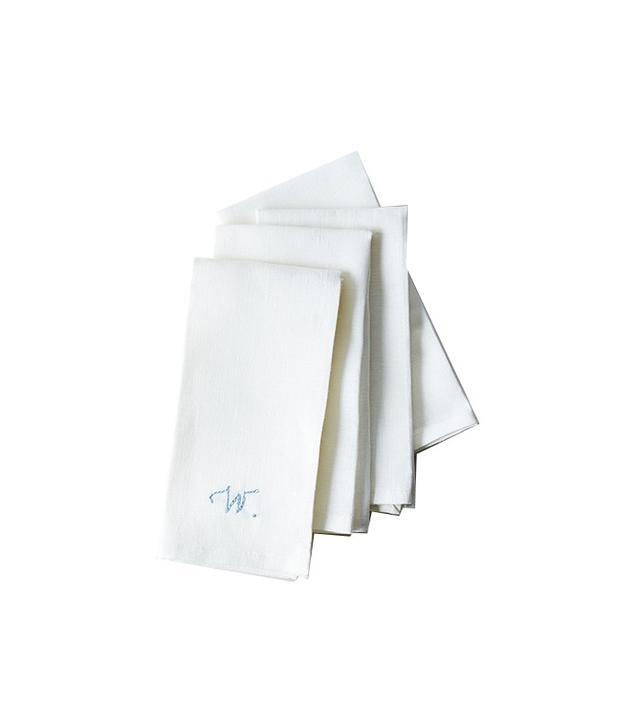 Food52 White Linen Napkins with Monogram Option