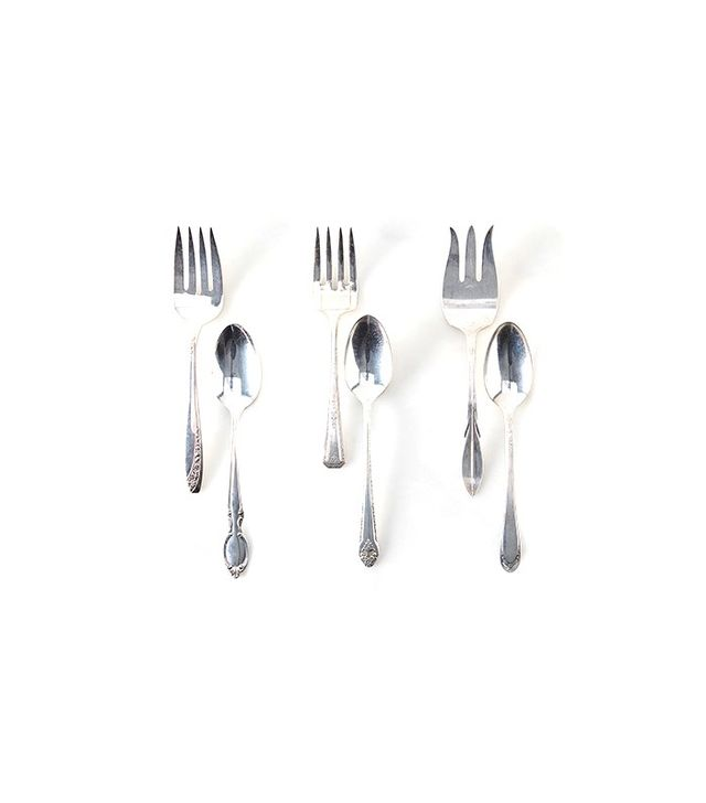 Food52 Vintage Silver-Plated Serving Fork and Spoon