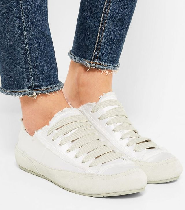 Pedro Garcia Parson Silk-Satin and Suede Sneakers