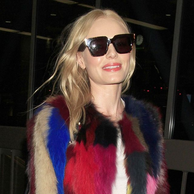 Kate Bosworth and Her Colorful Coat Just Aced Winter Airport Style
