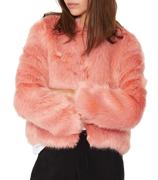 N:Philanthrophy Heather Faux Fur Jacket