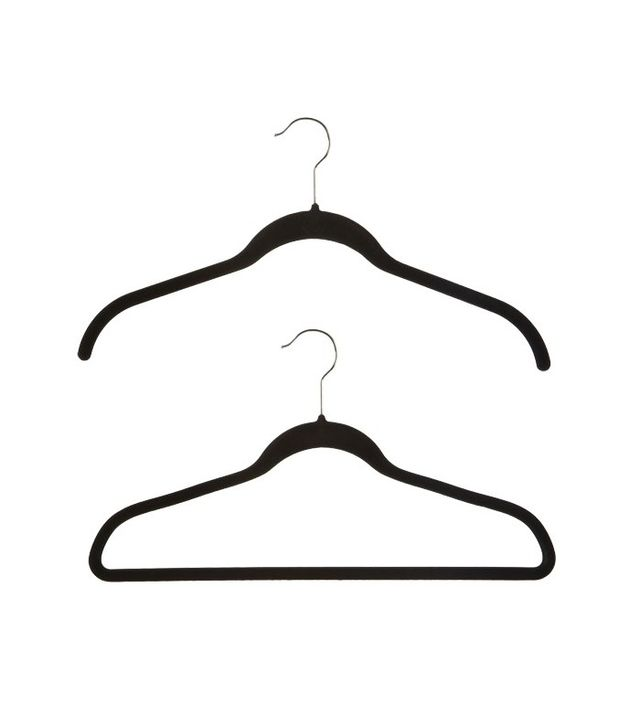 The Container Store Black Huggable Hangers