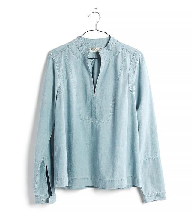 Madewell Denim Popover Shirt in Lauryn Wash