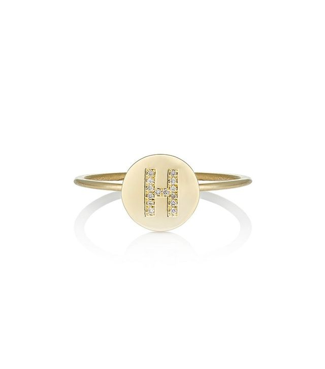 Jennifer Meyer Mini Initial Disc Ring