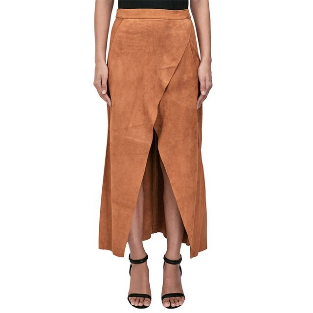 KITX Suede Leather Long Skirt