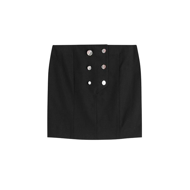 Anthony Vaccarello Button Front Skirt