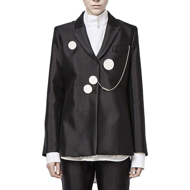 Ellery Gertrude Slim Line Jacket With Ceramic Buttons