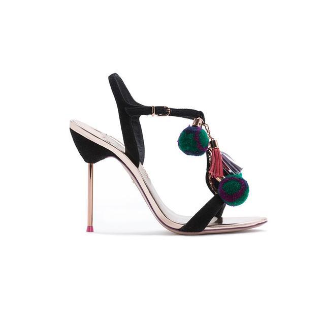 Sophia Webster Layla Pom Pom T-Bar Sandals