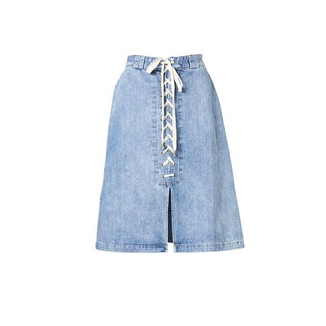 Sea NY Denim Lace Up Skirt
