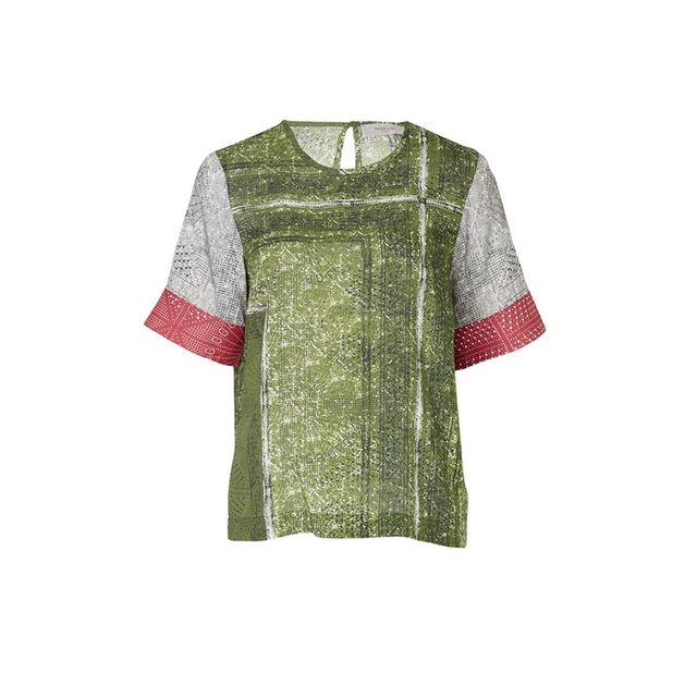 Preen Line Classic T-Shirt With Block Print