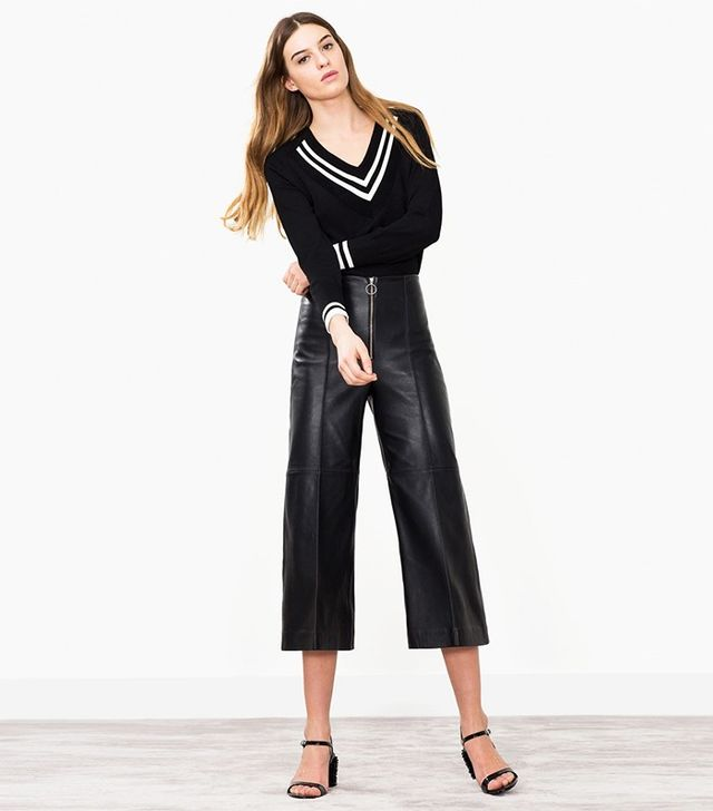 Uterque Zipped Nappa Culottes