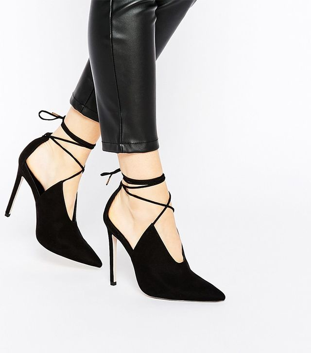 ASOS Propeller Lace Up Pointed Heels
