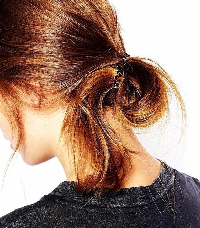 Pieces Black Spiral Hair Elastics